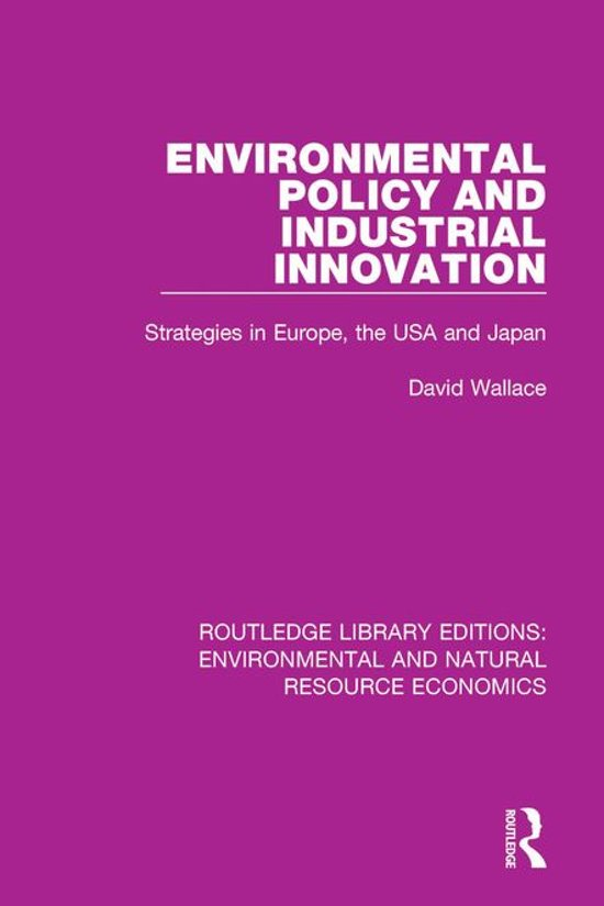 Environmental Policy and Industrial Innovation