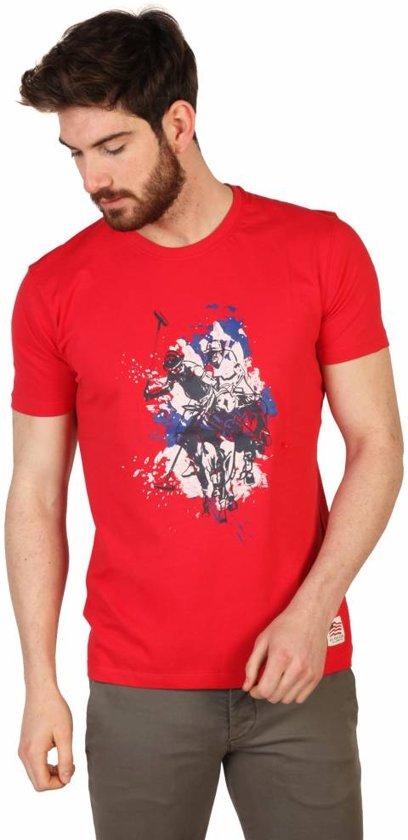 Heren T-shirt van U.S. Polo - rood