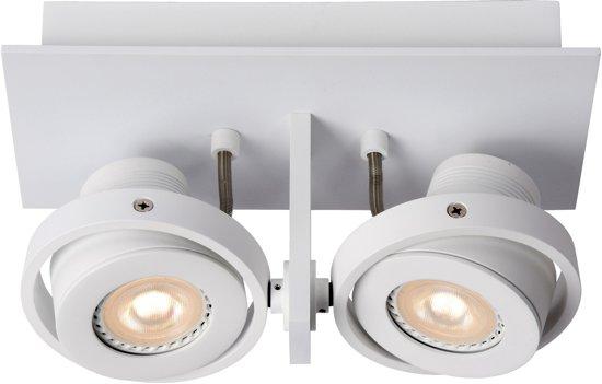 Lucide LANDA - Plafondspot - LED Dimb. - GU10 - 2x5W 3000K - Wit