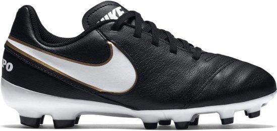 Nike Tiempo Legend VI FG  Voetbalschoenen - Maat 38 - Unisex - zwart/wit/goud
