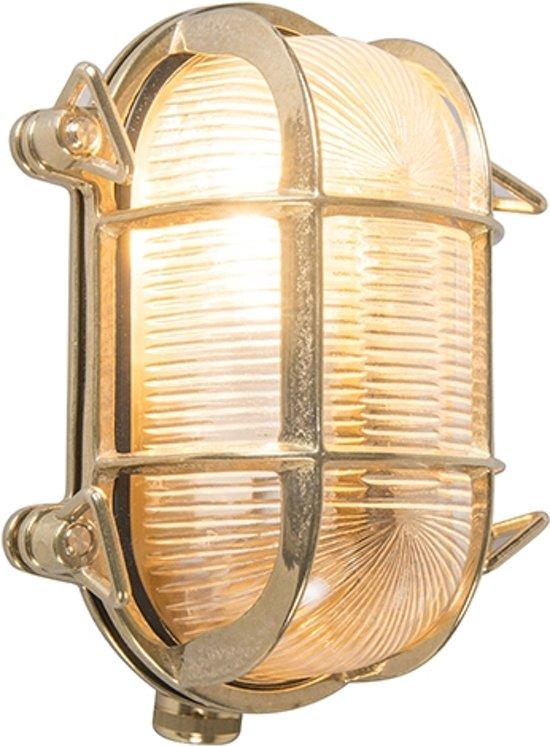 QAZQA Nautica 2 O - Plafondlamp en wandlamp - 1 lichts - 140 mm - goud/messing