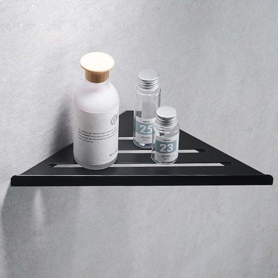 Corner Shelf / Hoek planchet mat zwart 30,5 cm