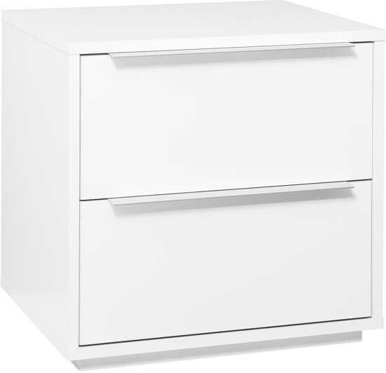 bol.com  True Furniture Pipari - Ladekast 2 laden - Hoogglans wit