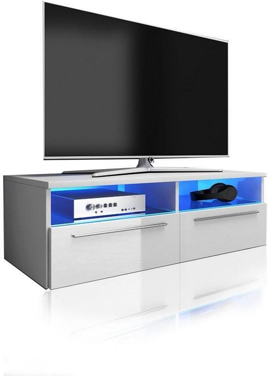 Hoogglans Witte Kast : Bol.com tv meubel dressoir sieno met led verlichting body wit