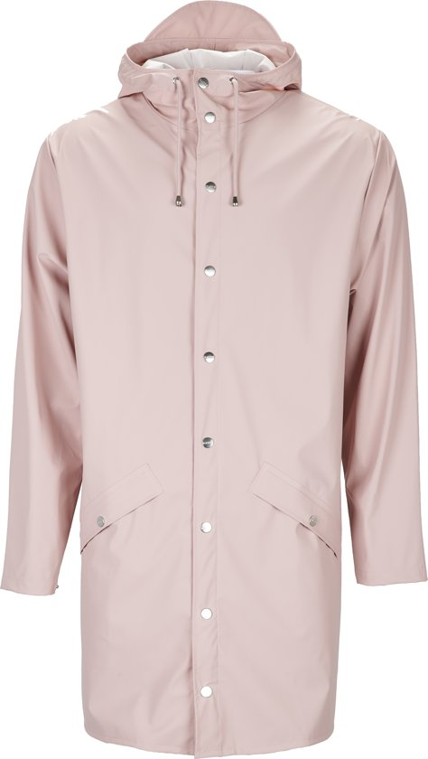 Rains Long Jacket 1202 Regenjas - Unisex - Rose