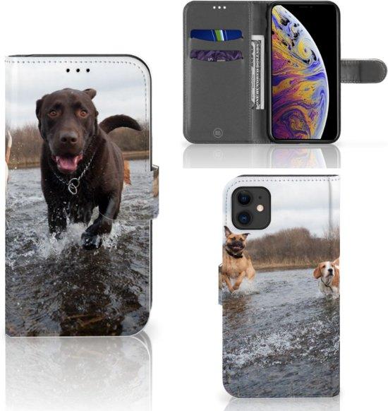 iPhone 11 Telefoonhoesje met Pasjes Honden Labrador