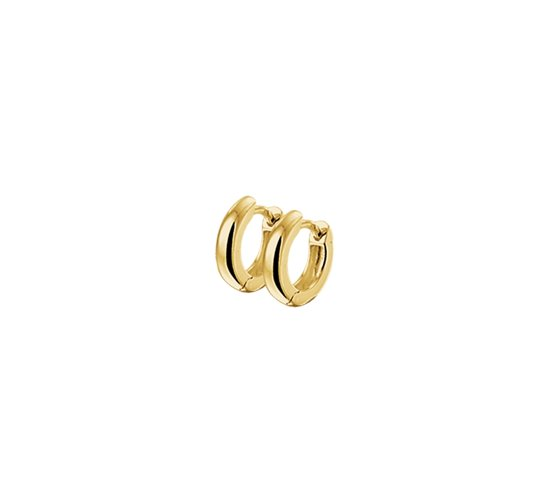 The Jewelry Collection Klapoorringen 3,0 mm Half-bol - Geelgoud