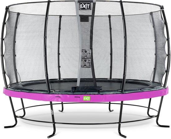 EXIT Elegant trampoline ø427cm met veiligheidsnet Economy - paars