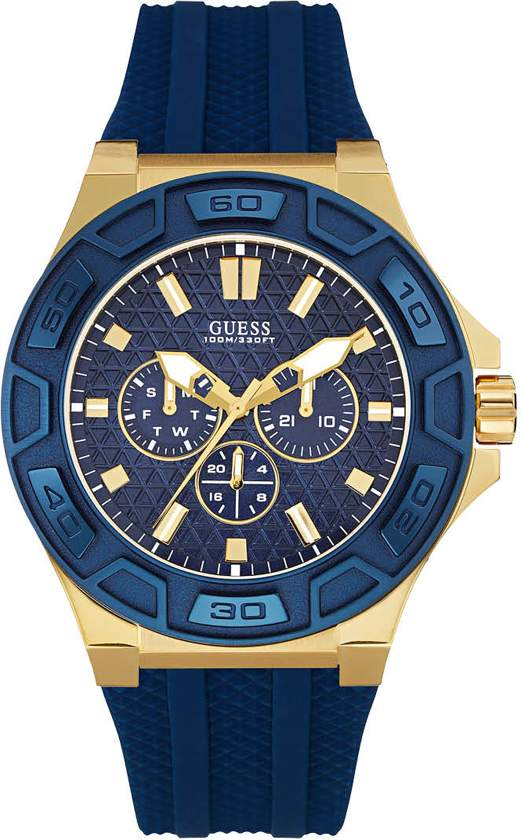 GUESS Watches - W0674G2 Force - Polshorloge - 45 mm - Blauw