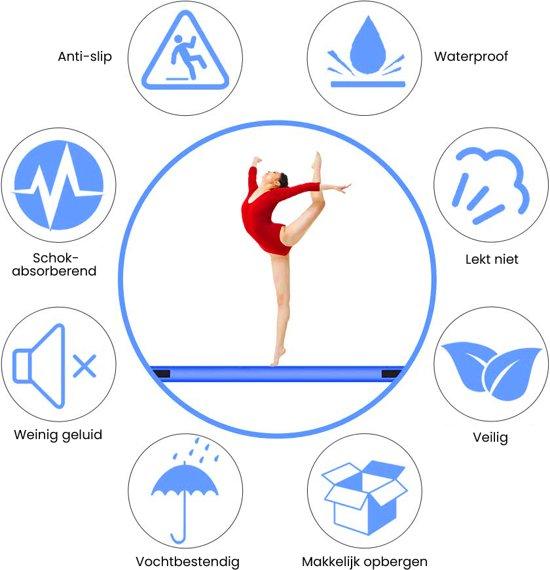 Springkussen - AirTrack | 3x1x0,1 M | Spelen & Springen | Buiten & Binnen | Met pomp