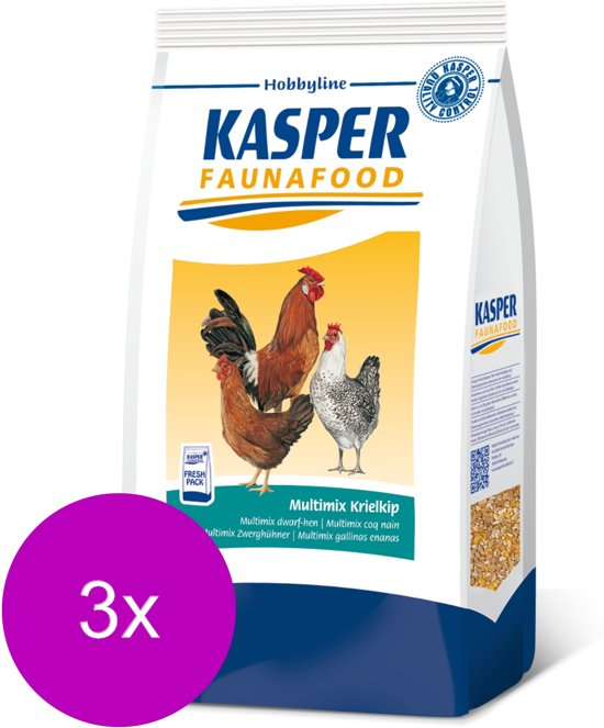 Kasper Fauna Food Hobbyline Multimix Krielkip 3 x 4kg