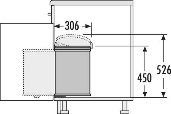 Hailo Big Box 20 Liter RVS