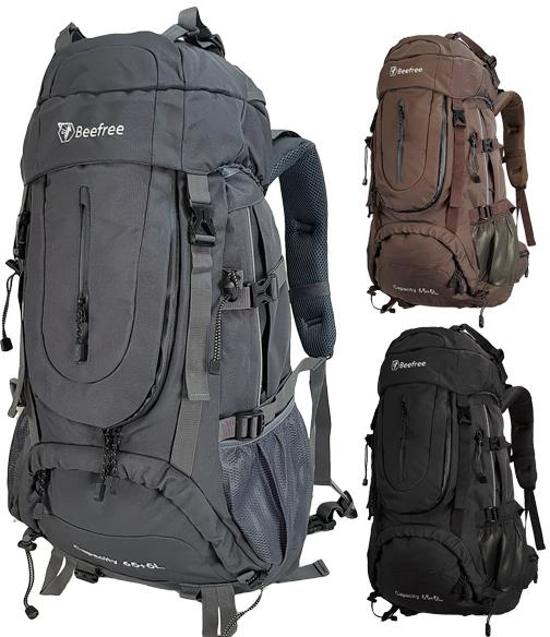 e716d3be05f Beefree 70 Liter nylon Backpack   Inclusief regenhoes   Frontlader   Extra  stevig   Updated 2019