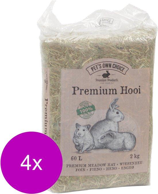 Pet's Own Choice Premium Hooi - Ruwvoer - 4 x 2 kg