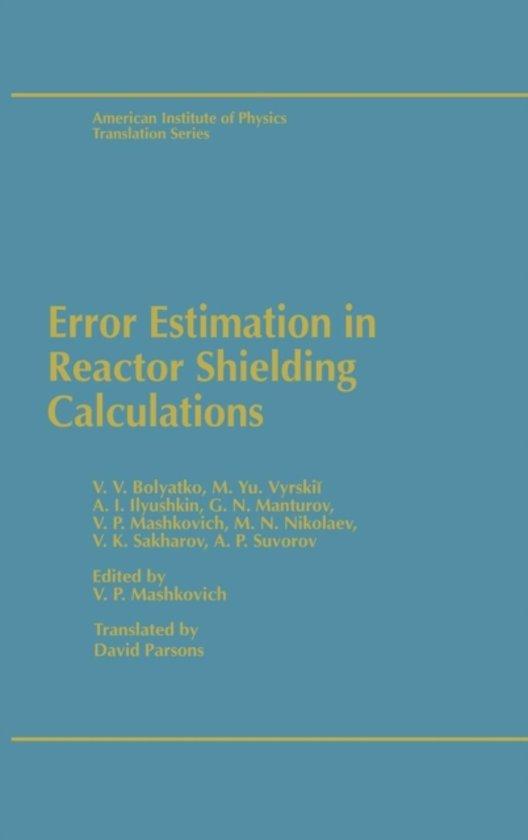 Error Estimation in Reactor Shielding Calculations