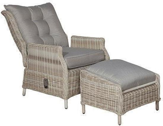 bol com   Garden Impressions Mila relax stoel + voetsteun passion willow