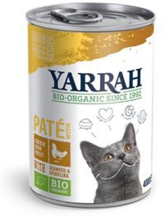 Yarrah blik pate kip kattenvoer Tray 12 x 400 gr