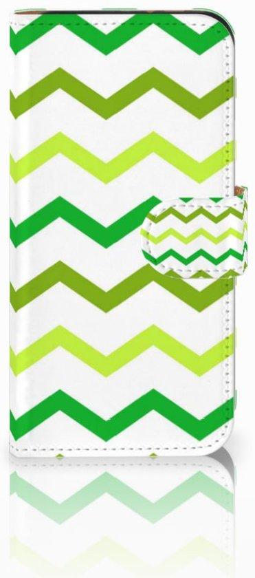 HTC One Mini 2 Uniek Boekhoesje Zigzag Groen