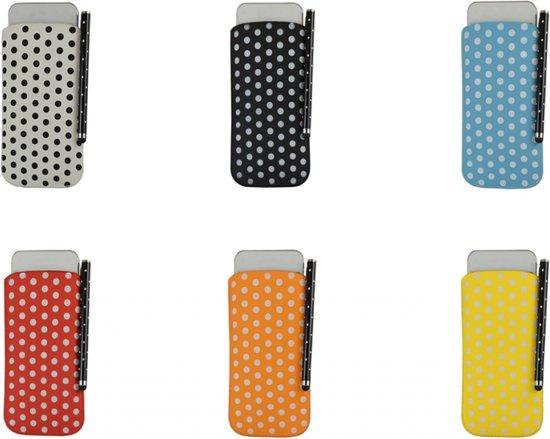Polka Dot Hoesje voor Alcatel One Touch Pop Up met gratis Polka Dot Stylus, zwart , merk i12Cover