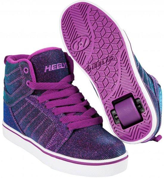 Chaussures À Roulettes Heelys Uptown Aqua Violet - Chaussures De Sport - Enfants - Taille 40,5 Violet / Bleu / Paillettes?