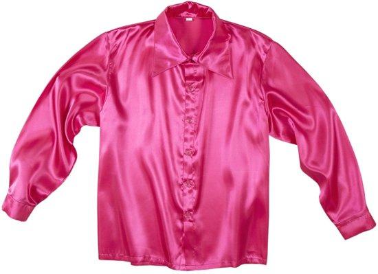 Roze Overhemd.Bol Com Roze Satijnachtige Overhemd Voor Heren Volwassenen