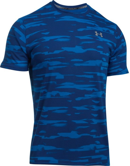Under Armour Threadborne Run Mesh SS Sportshirt - Heren - Maat XL - Lapis  Blue