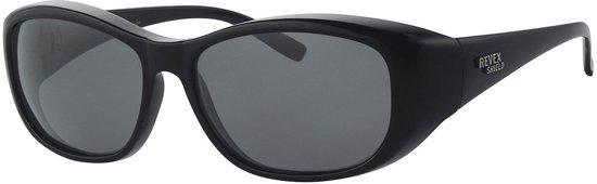 Polariserende Suncover Overzetzonnebril Black Mamba Overzet Zonnebril Zwart Grijze Lenzen Polarised