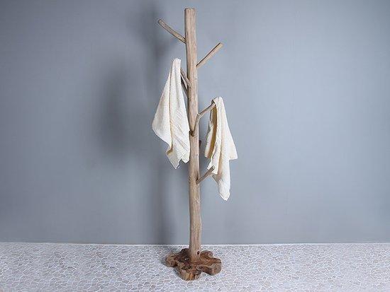 Staande Kapstok Hout.Staande Kapstok Handdoeken Standaard Uit Teakhout Handdoekendroger