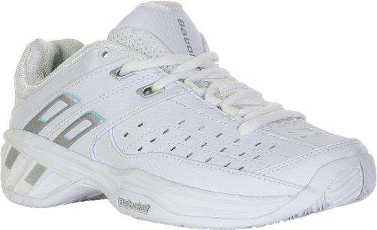 Babolat Double Line  Tennisschoenen - Maat 36 - Vrouwen - wit/blauw