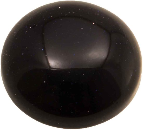 Natuursteen Cabochon (14 mm) Blue Goldstone(2 Stuks)