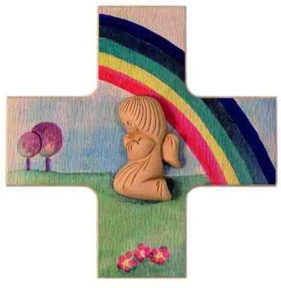 Kruisje met beschermengel en regenboog nu. 2