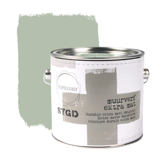 Stapelgoed - Muurverf extra mat - Olive - Groen - 2,5L