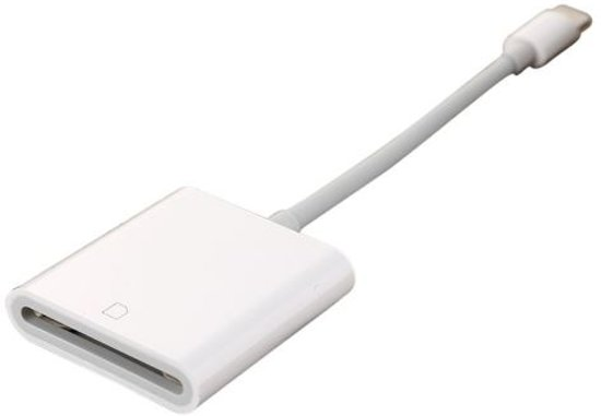 SD kaartlezer voor iPad en iPhone