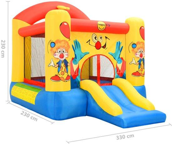 Happy Hop Springkussen met glijbaan 330x230x230 cm PVC