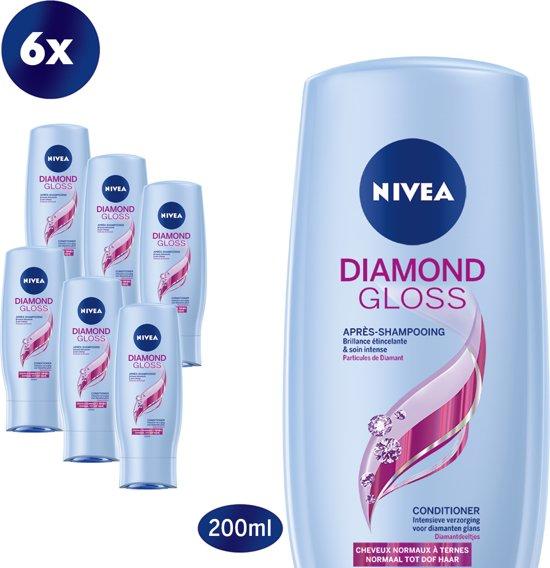 NIVEA Diamond Gloss Conditioner- 6 x 200 ml - Voordeelverpakking