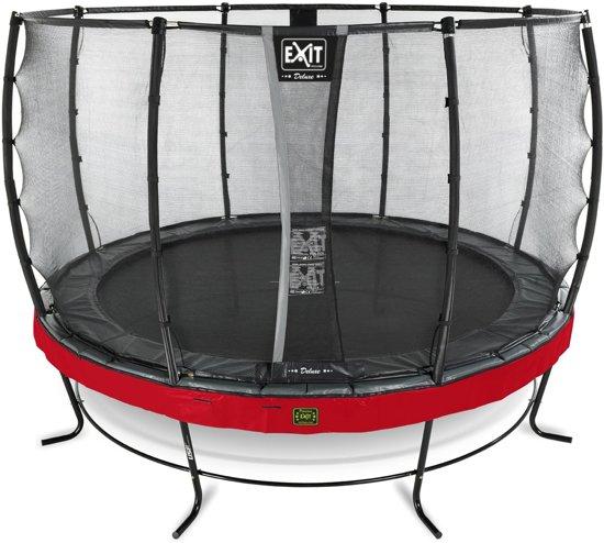 EXIT Elegant Premium trampoline ø366cm met veiligheidsnet Deluxe - rood