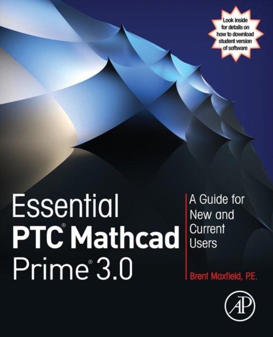 Bol Essential Ptc R Mathcad Prime R 30 Brent Maxfield
