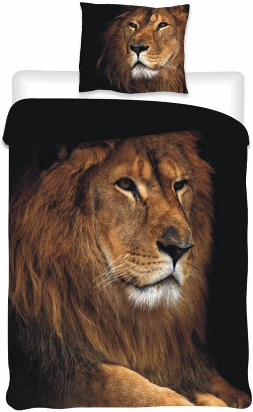 bol com   Photo Animal Leeuw   Dekbedovertrek   Eenpersoons   140 x 200 cm   Bruin