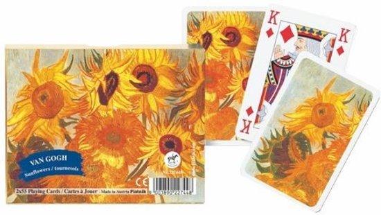 Afbeelding van het spel Speel-kaarten-Set Van Gogh Sunflowers :: Piatnik