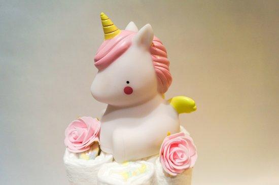 Luiertaart - Pampertaart Meisje Unicorn - 54 Pampers - Roze