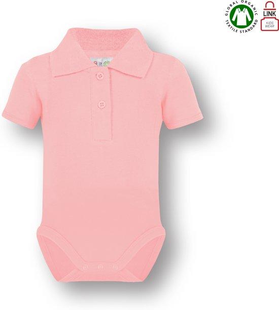 0939098f2e5780 bol.com | Link Kidswear Meisjes Romper GOTS - Baby Roze - Maat 74/80