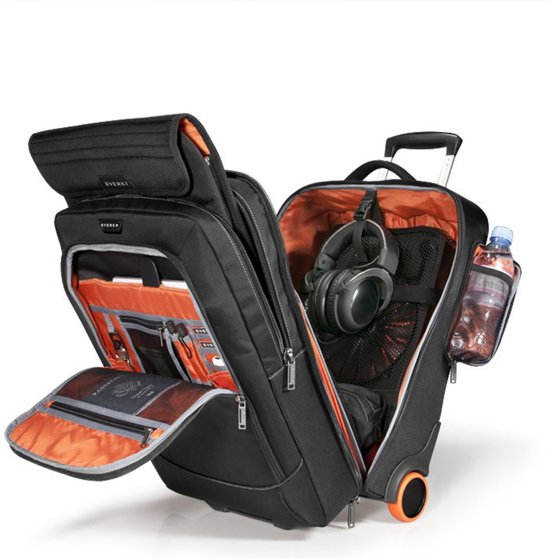 4'' Titan Trolley 18 Case Everki Zwart AaPYxPw