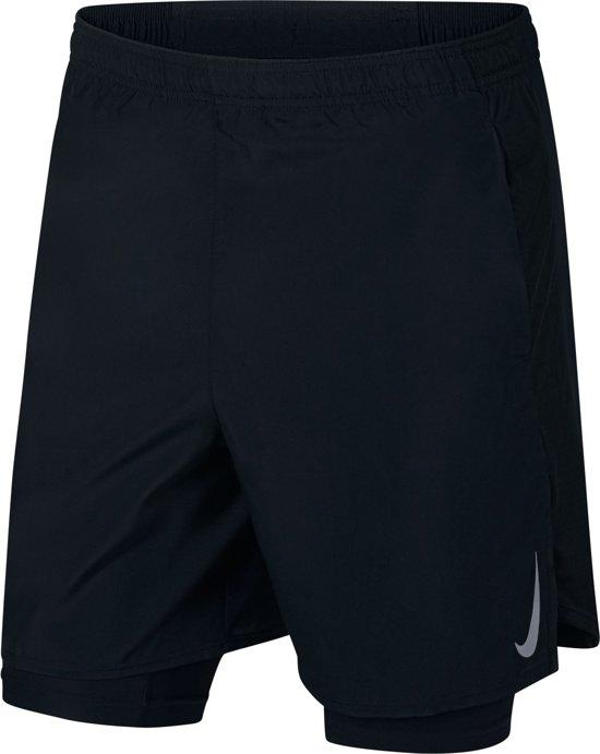 Nike Challenger Short 7In 2In1 Sportbroek Heren - Black/Black/(Reflective Silv) - Maat S