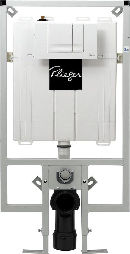 Populair bol.com   Plieger Compact Inbouwreservoir - Dualflush - frontbediening ZX23
