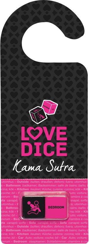 Afbeelding van het spel Liefdes dobbelstenen en deurhanger Kama Sutra