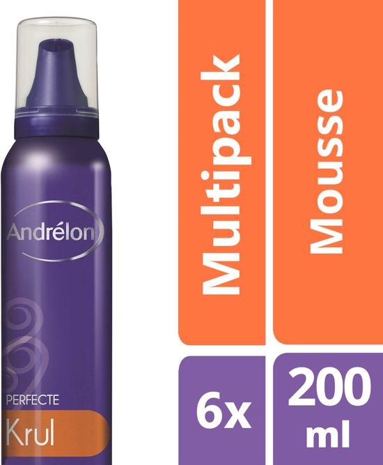 Andrélon Perfecte Krul - 6 x 200 ml - Haarmousse - Voordeelverpakking
