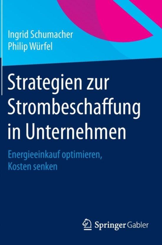 Strategien Zur Strombeschaffung in Unternehmen