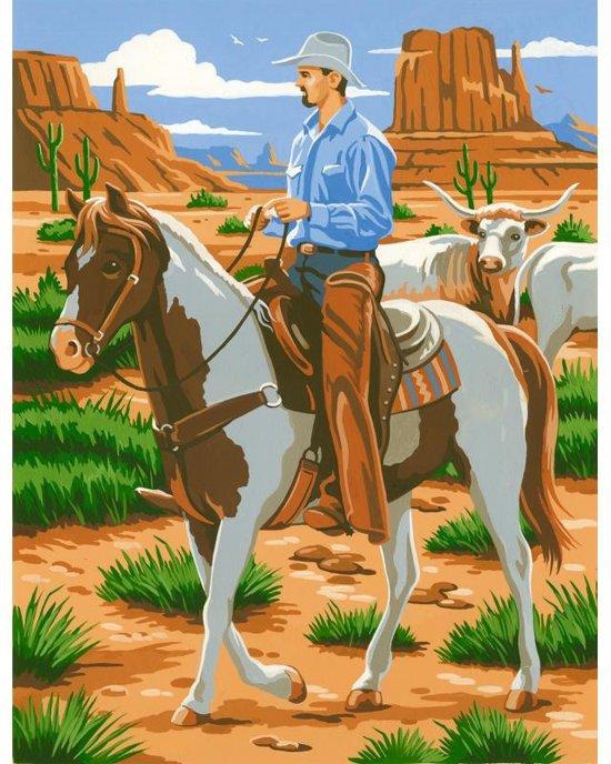 Schilderen op nummer - cowboy