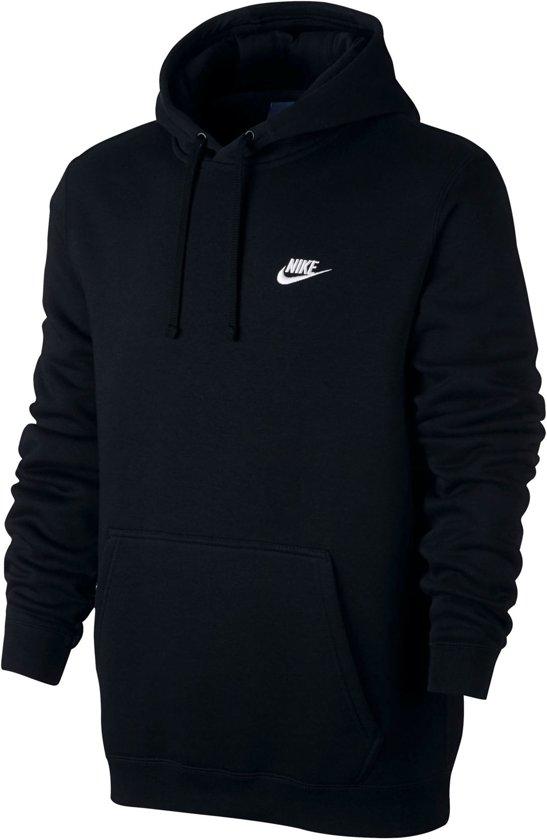 Nike Team Club Hooded  Sporttrui casual - Maat L  - Mannen - zwart/wit