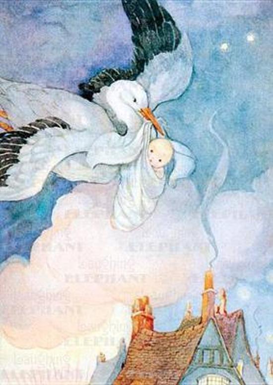 Afbeelding van het spel Stork Carrying Baby